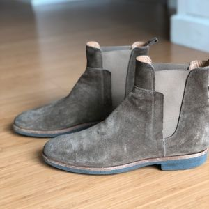 Mens Vince Brown Suede Chelsea Boots size 9.5